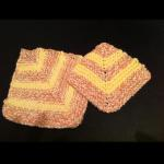 Self-made pattern of mitered potholder and coaster