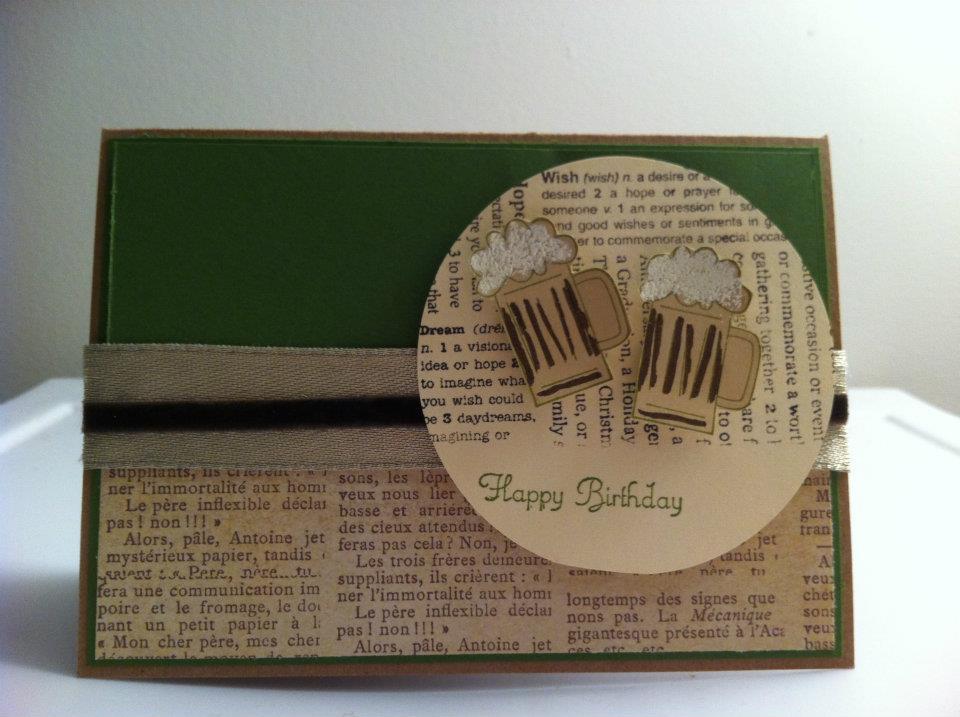 manly card  theyarnfix, Birthday card