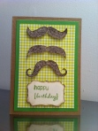 A mustache birthday card